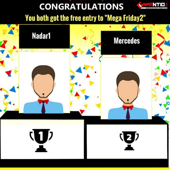 Congratulations to the winners of free entry to mega 5