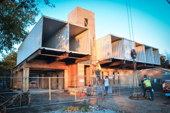 House Made From Shipping Container pv14 placing containers | iso container architecture | pinterest