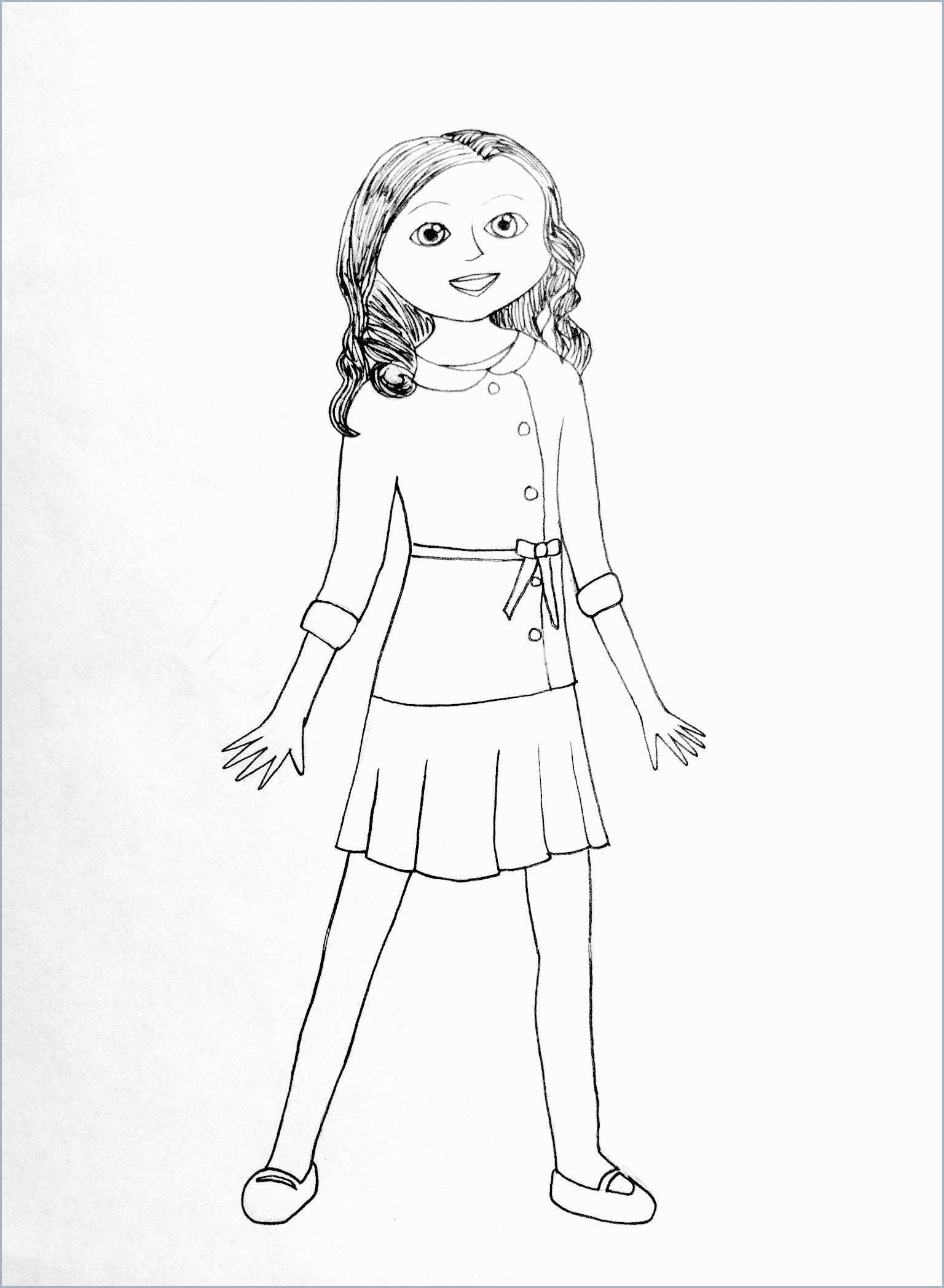 Fresh Coloring Pages American Girl Free