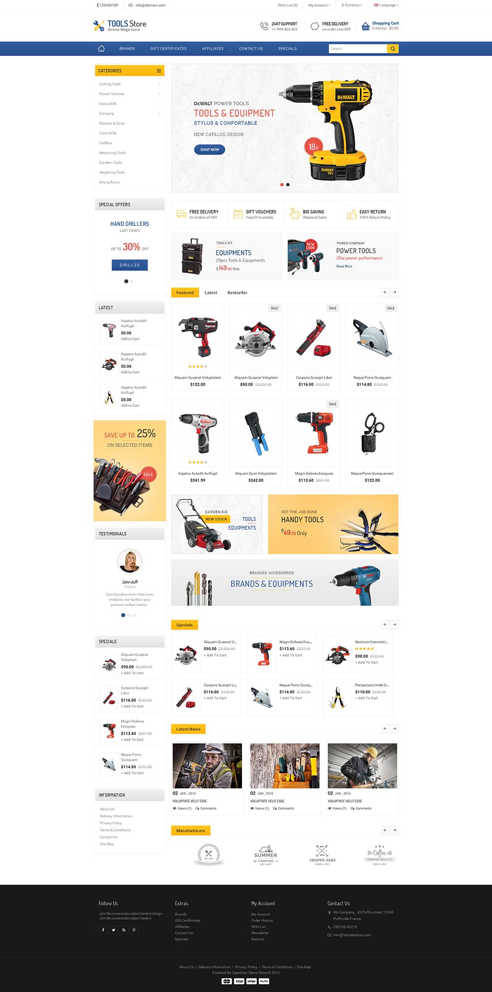 Modern - Opencart Multi Purpose Responsive Theme   Interiores y ...