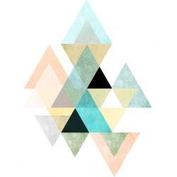Photo of Geometrischer Dreieck Kunst Print – Weiß oder Schwarz Möglichkeit: Weiß Cult Furniture