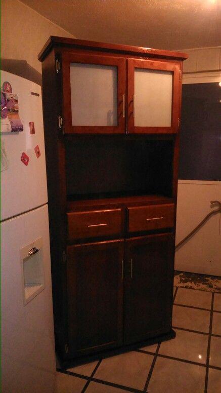 Mueble guarda despensa con espacio para microondas muebles para cocina y cocinas integrales - Mueble despensa cocina ...