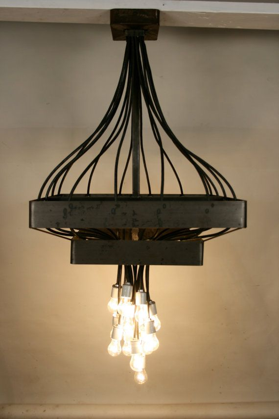 Industrial Modern Chandelier by brentclifton on Etsy