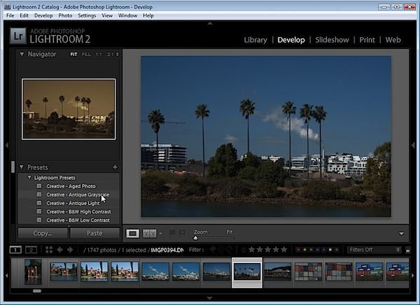 Where does lightroom store catalog