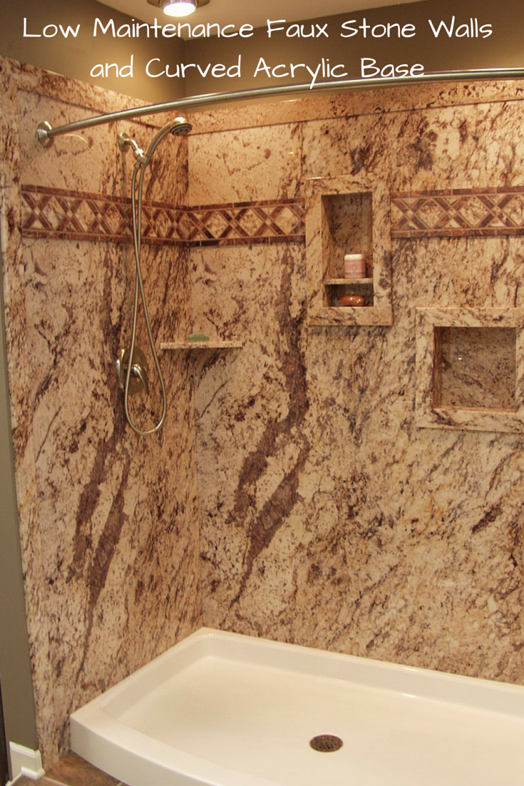 3 Ideas for a Low Maintenance High Style Shower System | Faux stone ...