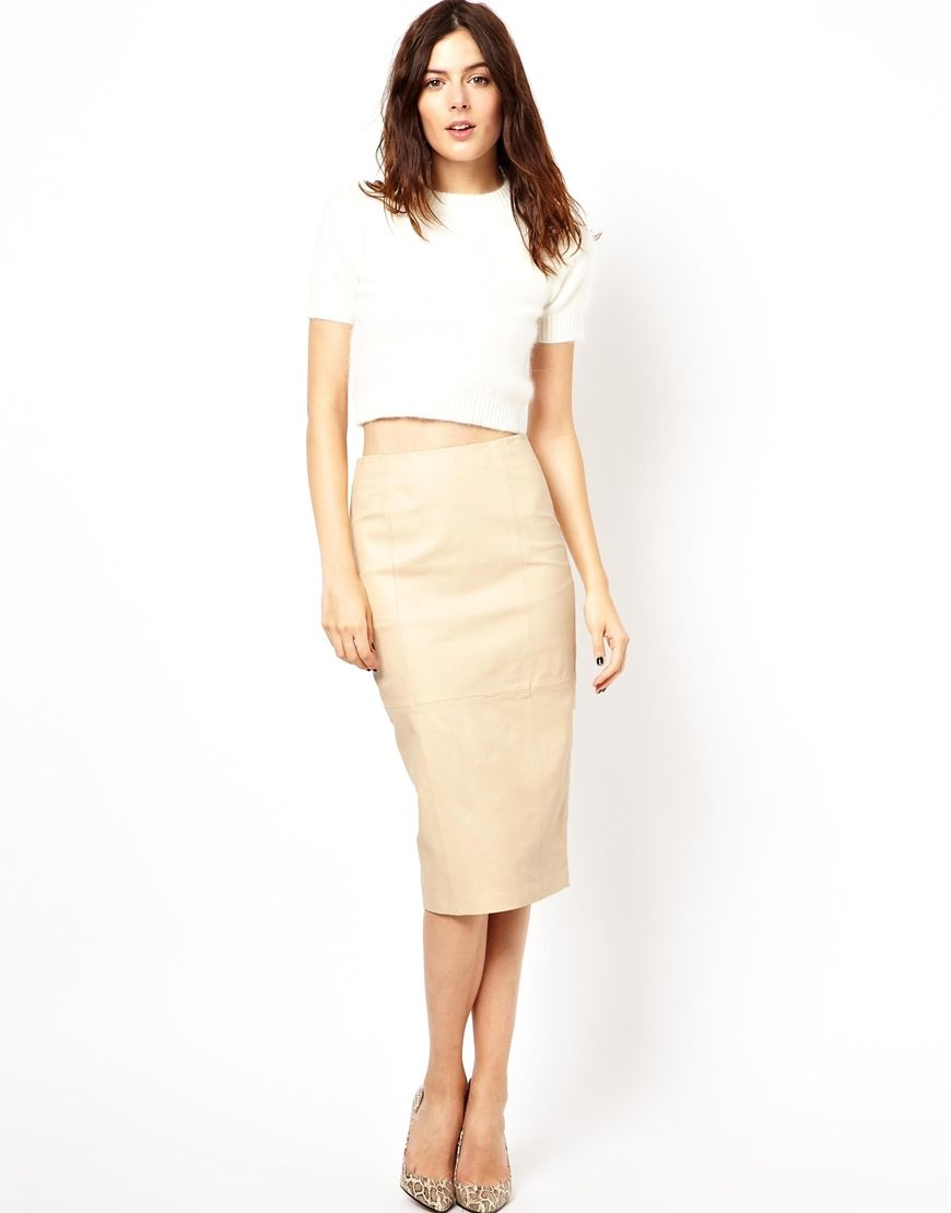 Leather Pencil Skirt | Fashionista | Pinterest | Pencil skirts