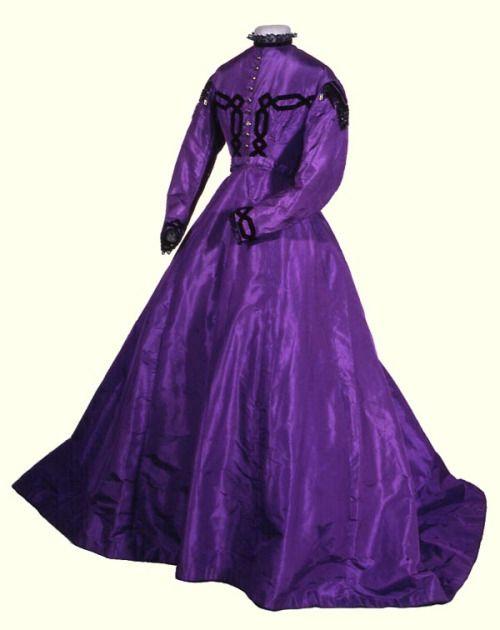 Silk dress, 1867.