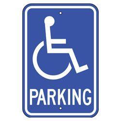 Handicapped Parking Sign Parking Signs Storefront Signs Reflective Sign