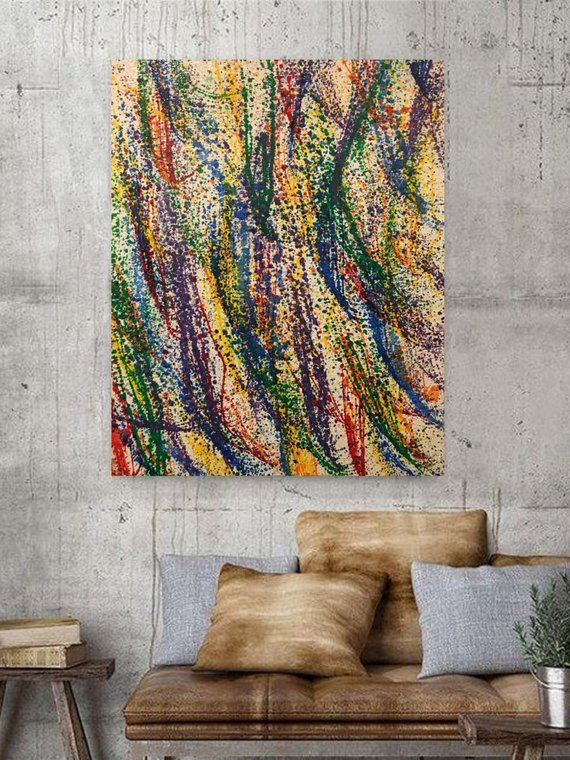 Original Acrylic Abstract Painting - Contemporary Textured