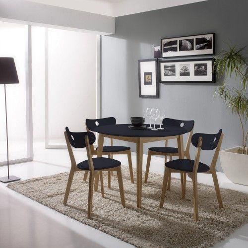 Conjunto de mesa y 4 sillas aida antracita mesas comedor for Decoracion beltran