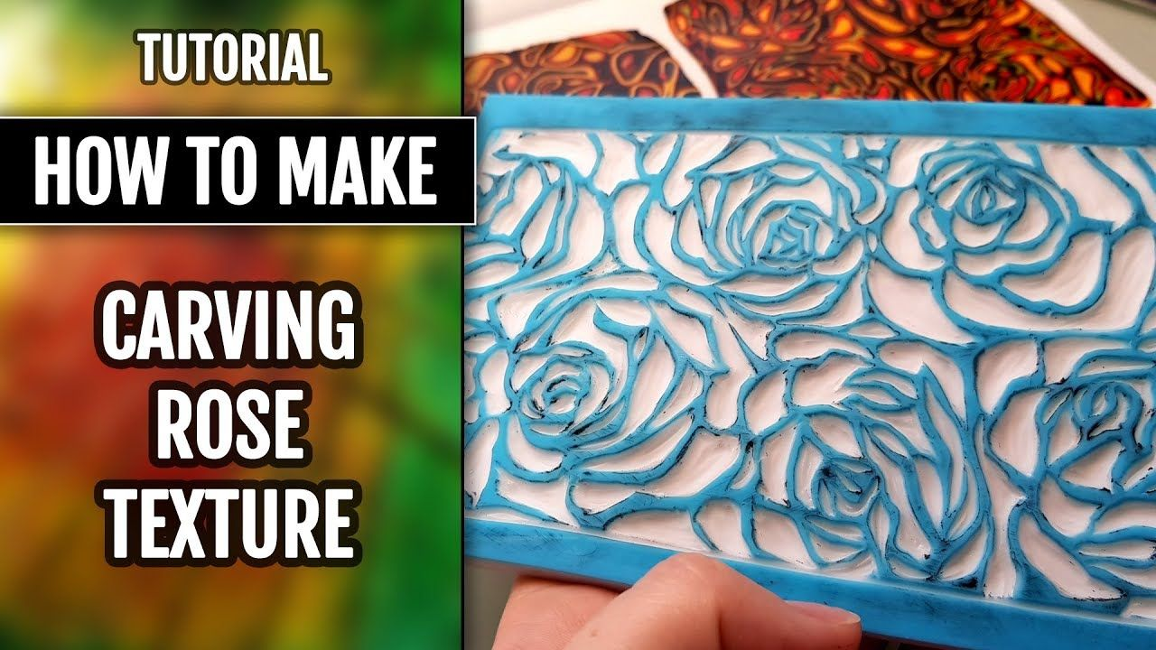 Diy how to carve the roses pattern texture sheet for polymer clay
