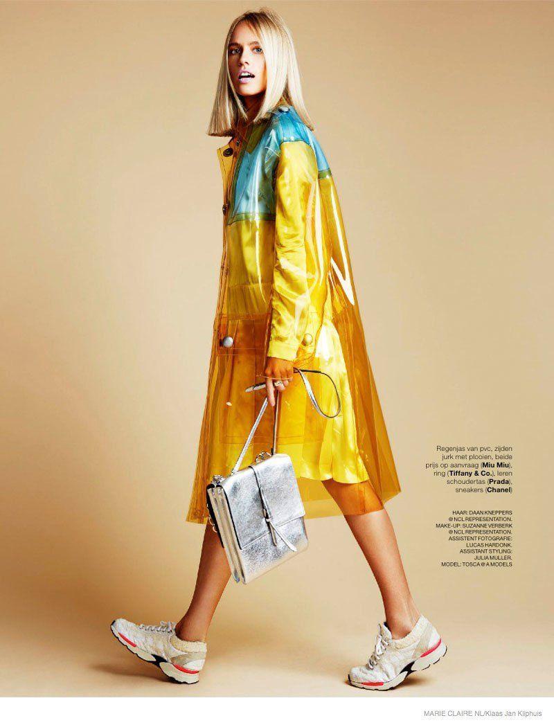 rain gear - Tosca Dekker Wears Colorful Fall Fashion for Marie Claire Netherlands