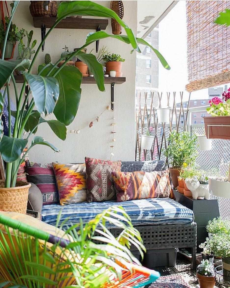 Bohemian Outdoor Area In Manhattan Deco Appartement Deco Balcon