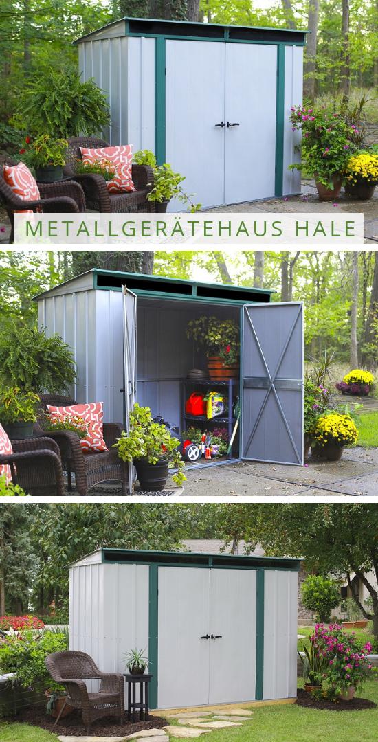 Kleines Gartenhaus in großem Stil Unser Gerätehaus aus