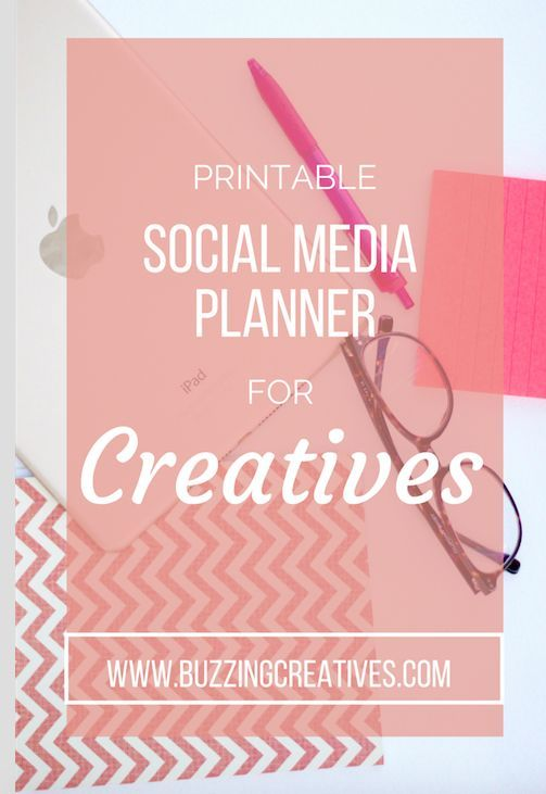 FREE printable social media planner for creatives #creativepreneur