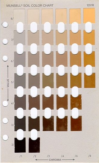 Munsell colour chart - used for grading soil color values - !0yr is - ral color chart