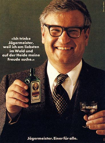Ggk Dusseldorf De 1973 Ich Trinke Jagermeister Weil 1 Paul Gredinger Anzeige Erschienen 30 Mai 1973 Crazy Jokes Vintage Ads Advertising