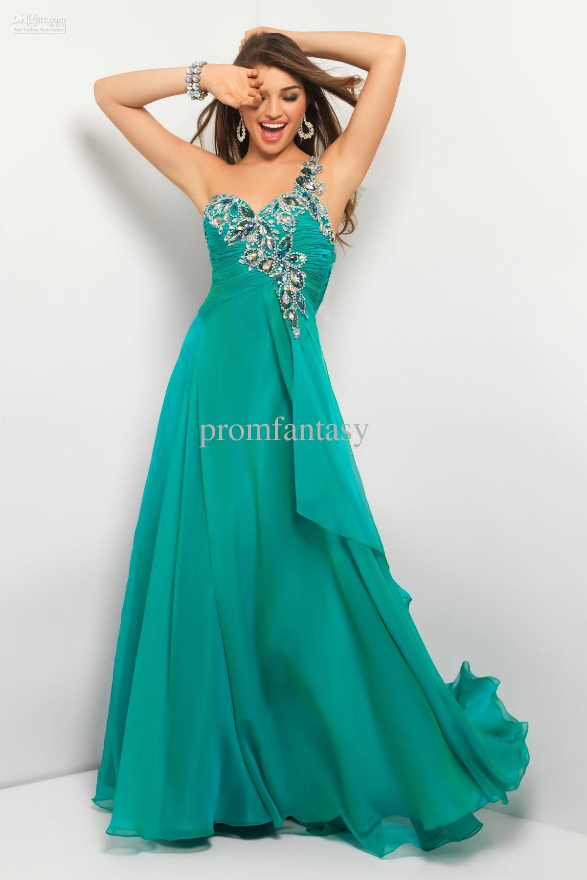Wholesale Unique Backless Formal Gowns Iridescent Bling Crystals ...