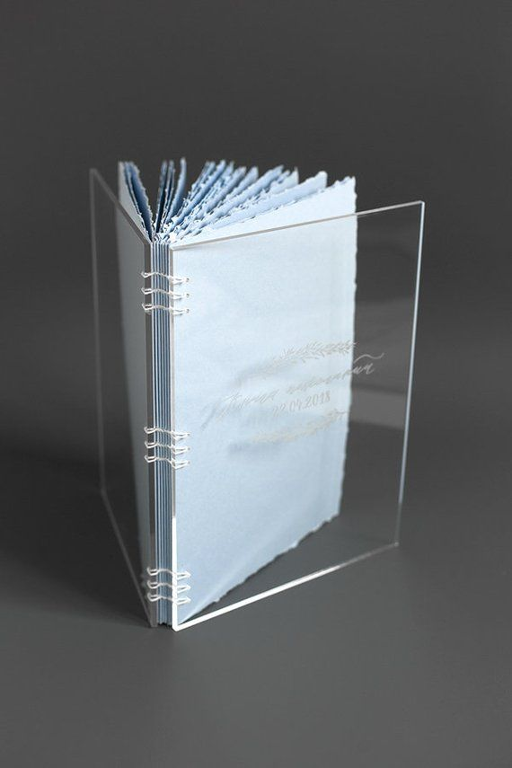 Photo of Instant book, Customized Clear Acrylic Book, Wedding guest book, Acrylic book with engraved