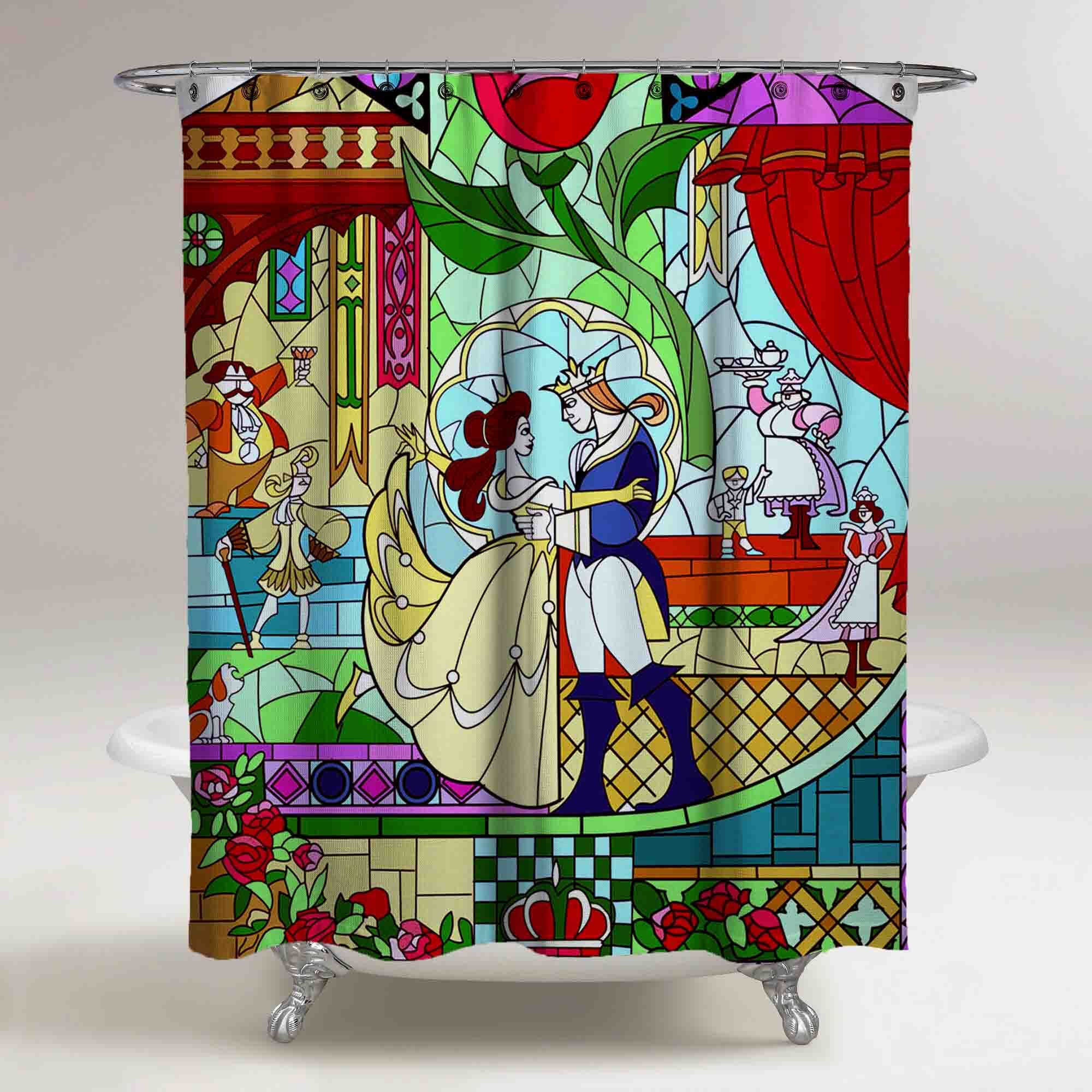 Beauty And The Beast Stained Glass Large