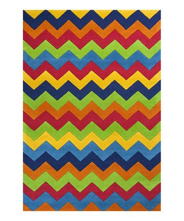 Look what I found on #zulily! Green & Blue Cool Ziggy Zaggy Wool Rug by KAS Rugs #zulilyfinds