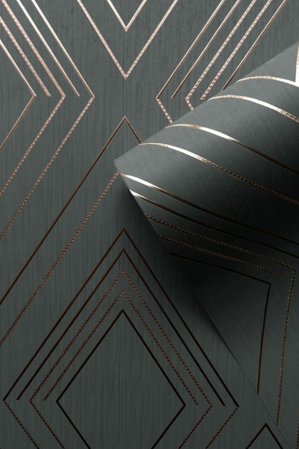 Arthouse Parallel Geometric Metallic Line Modern Textured Wallpaper