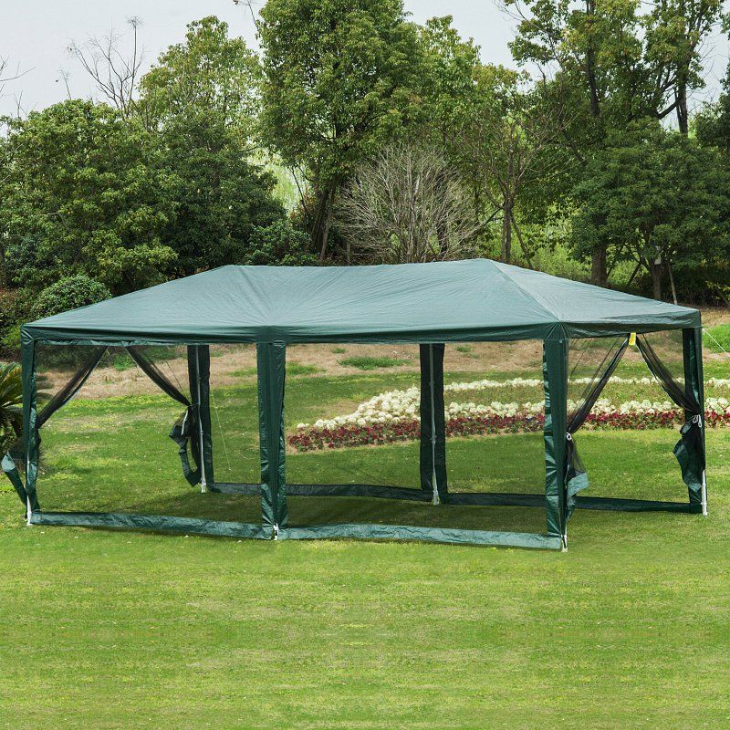 Outsunny Canopy Cover Tent With Removable Mesh Side Walls Canopy