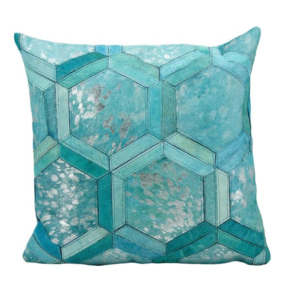 Michael Amini By Nourison TurquoiseSilver 40inch Throw Pillow Stunning Nourison Decorative Pillows
