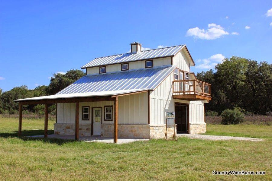 Awesome Metal Barndominium Home Large Garage House Plans Barn Pole
