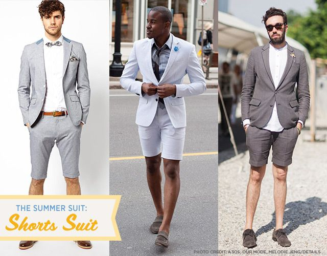 The Summer Suit: Shorts Suit someone needs to wear one of these to ...