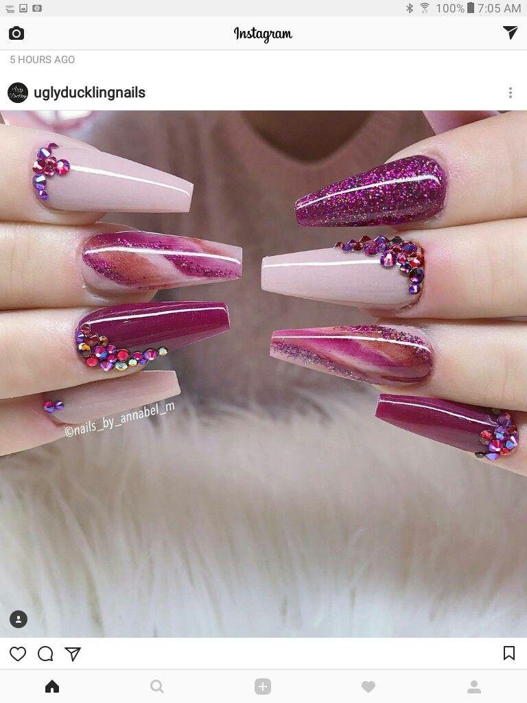 Pin de mariajose en uñas bailarina   Pinterest   Diseños de uñas ...