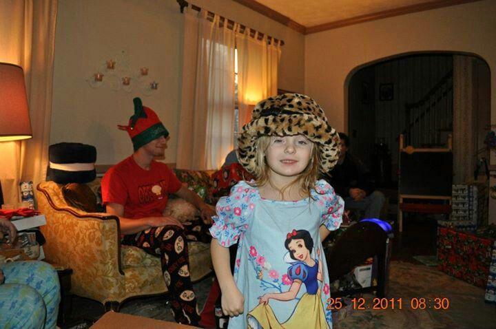 Sophia Christmas morning.