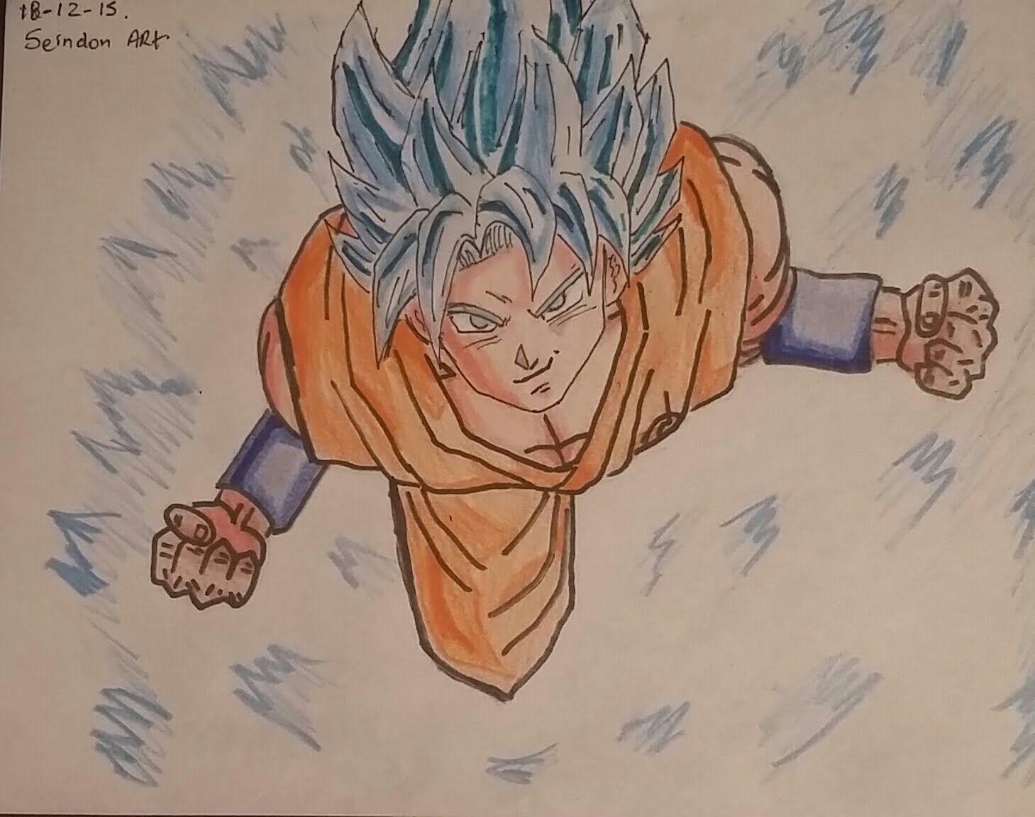 Dibujando A Goku Ssj Dios Azul Ssj Drawing Goku Ssj Ssj God Blue Dragon Ball Super Goku Ssj Dios Azul Dibujo De Goku Como Dibujar Cosas