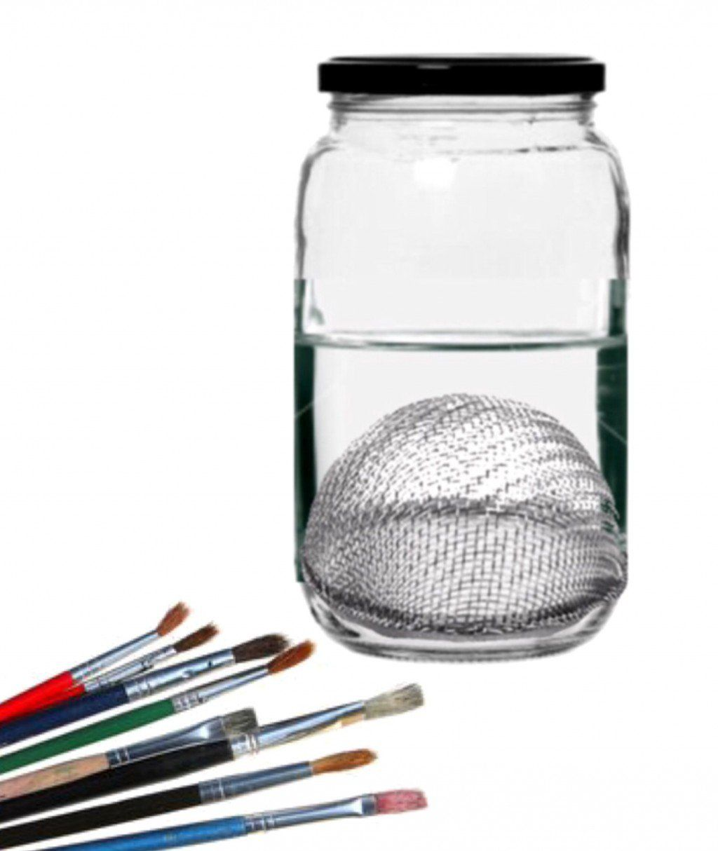 Create your own paint brush cleaning container cleaning