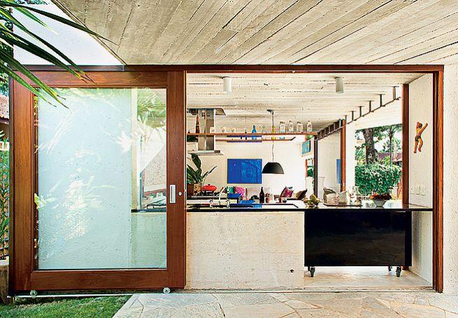 Projeto casa cozinha externa 1 home projects pinterest for Puerta corrediza externa