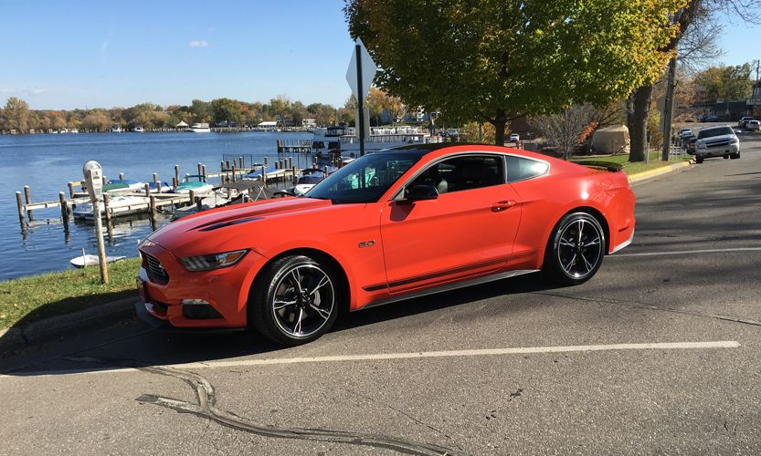 2016 Mustang Gt California Special In Competition Orange With