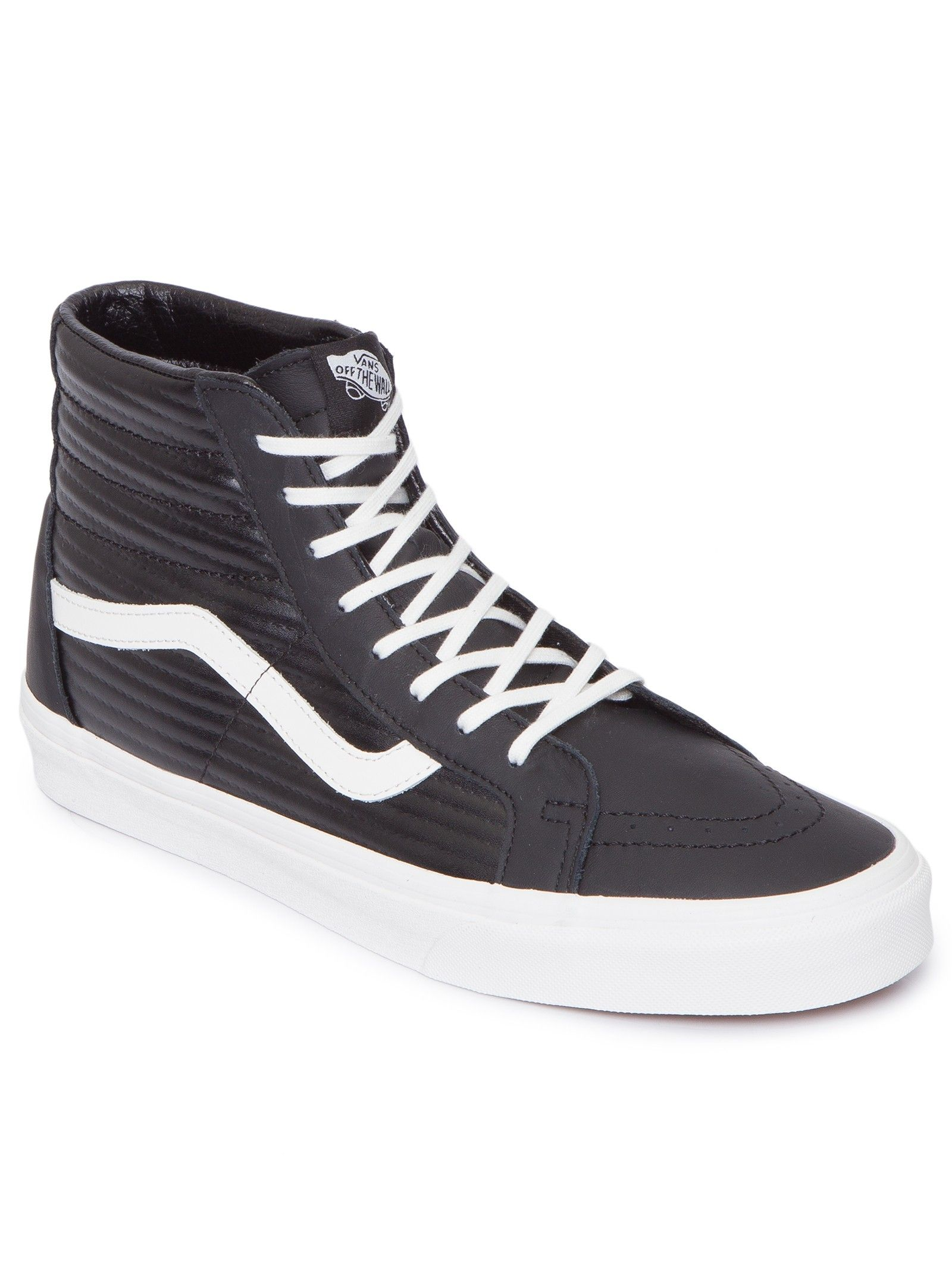 264130ca033c Tênis Ua Sk8-Hi Reissue Moto Leather - Vans - Preto - Shop2gether ...