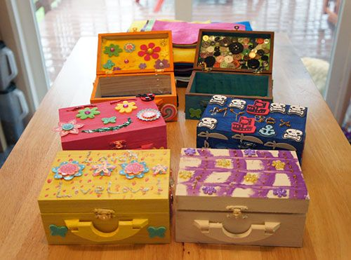 Decorated Wooden Boxes From Our Michael's Craft Hosties Kids Craft Cool How To Decorate Wooden Boxes