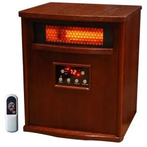 Lifesmart 1500 Watt 6 Element Infrared Room Heater With Oak