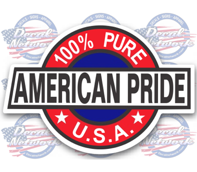 Percent American Pride Vinyl Decal Sticker Custom Vinyl - Custom vinyl record decals