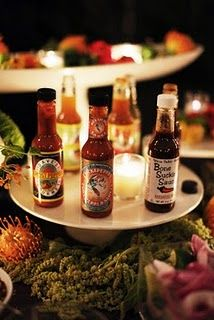 Due to my fiancé's love for all things spicy, I'm wanting to incorporate a hot sauce/pepper bar (we're serving chilli) after all it's his day too...