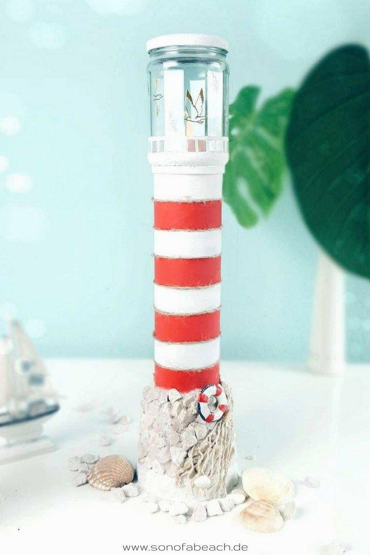Photo of leuchtturm diy basteln bastelidee maritime deko