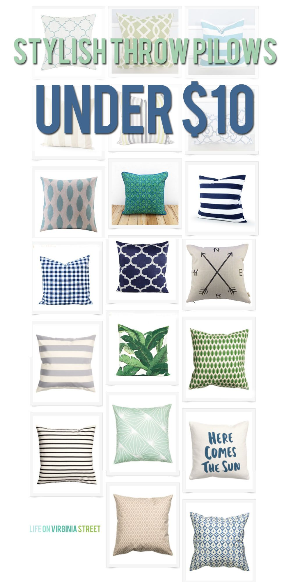 Cheap Decorative Pillows Under $10 Brilliant Stylish Throw Pillows For Under $10  Throw Pillows Virginia And Decorating Inspiration