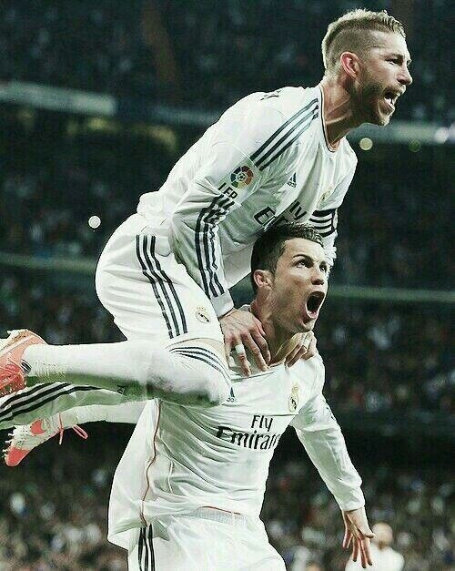 Ramos and Ronaldo  Real Madrid ( Spain ) @Cristiano @SergioRamos