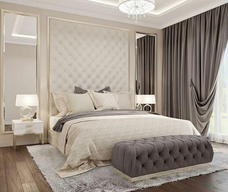 Katie By Design Bedrooms French Bedrooms Master Bedrooms Barrel Ceiling Tufted Tall Headboard Beautiful Bedroom Designs Beautiful Bedrooms Home Bedroom