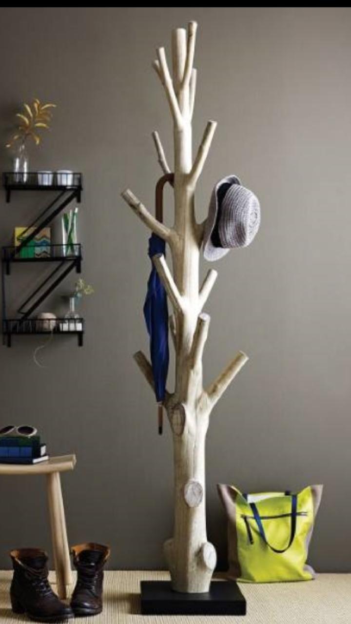 Selbstgebauter Kleiderständer, Kleiderständer, Baum Kleiderablage, Ideen  Fürs Zimmer, Wand Dekor, Dekor Zimmer, Stauraum Ideen, Holz Herbst  Dekoration, ...