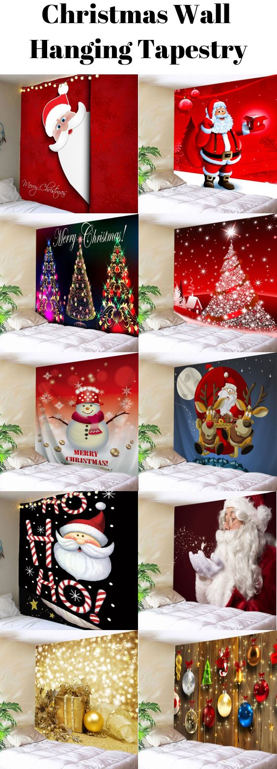 Christmas Wall Hanging Tapestry Starting From 9 2 Christmas Wallhangings Wallart Christmas Wall Hangings Christmas Deco Christmas Crafts