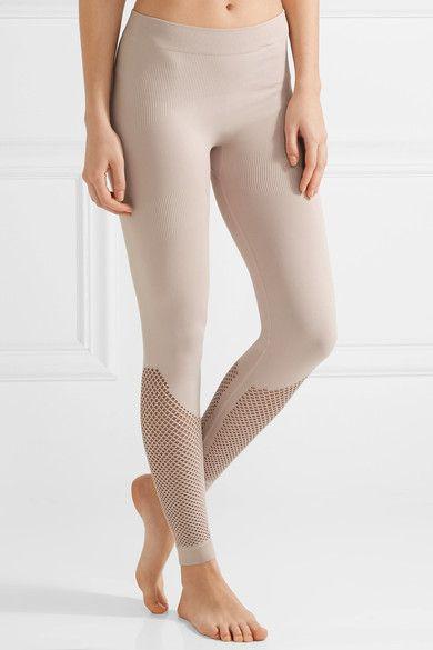 2d1f2aed3a adidas by Stella McCartney - The Mesh Tight stretch leggings ...