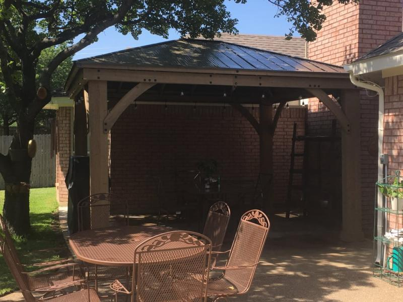 Review Photo 6 In 2020 Aluminum Roof Gazebo Outdoor Living Space