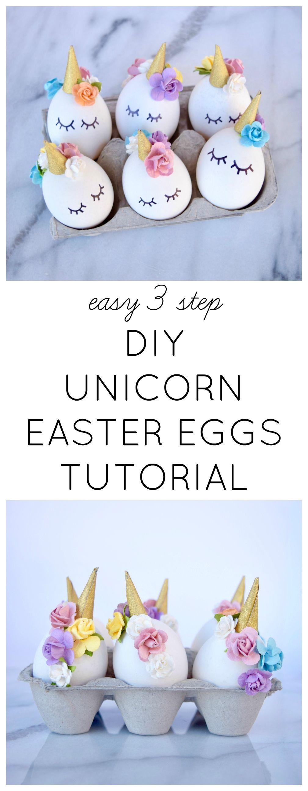Diy Unicorn Easter Eggs Tutorial Easter Pinterest Easter Eggs